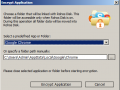 Hide Folder dialog window
