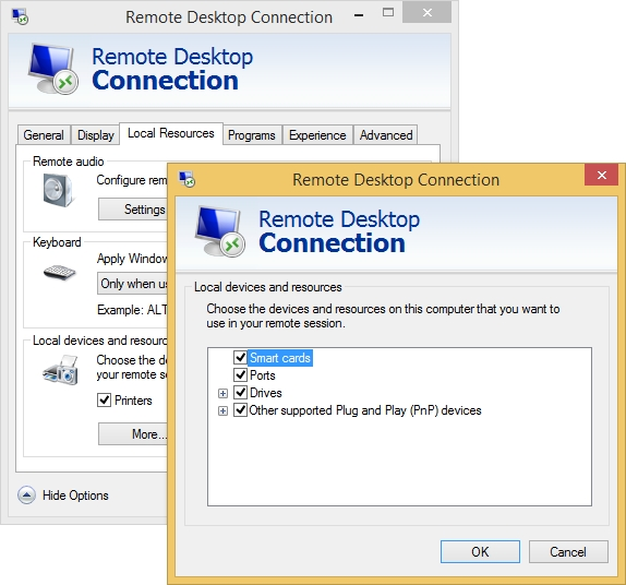 how to open remote desktop connection using run command