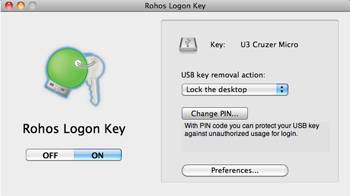 Rohos Logon Key for Mac Screenshot