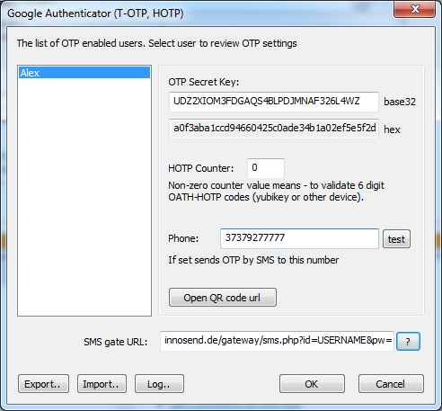 Windows Remote Desktop Authentication by SMS mobile