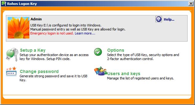Rohos Logon Key 4 Full - Sử dụng USB để đăng nhập Windows