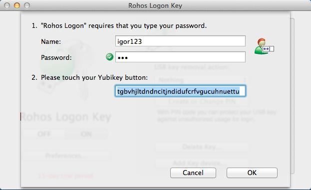 Rohos Logon Key for Mac – Rohos